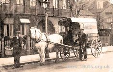 A Curnock's delivery by horse and wagon, Edmonton, North London 1929 Vintage London, North London, Local History, Delivery, Horses, Nostalgia, Image, Horse