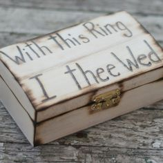 *ring bearer box