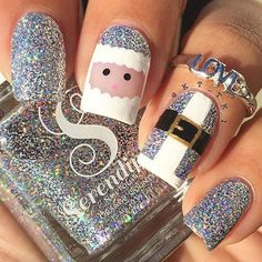 Best Christmas Nails for 2017 - 64 Trending Christmas Nail Designs - Best Nail Art - Tap the link now to get your teeth whitening kit for FREE! Santa Nails, Xmas Nails, Diy Nails For Christmas, Valentine Nails, Christmas Makeup, Halloween Nails, Christmas Nail Art Designs, Holiday Nail Art, Holiday Makeup