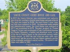 Court House and Goal plaque.