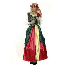 Tu mejor disfraz de renacimiento mujer bt 36458.Con este elegante disfraz de Renacimiento para mujer serás la reina de toda fiesta. Ideal para tus fiestas temáticas, representaciones, actuaciones, Carnaval, etc. a la que vayas.