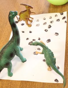 Dinosaur tracks matching activity. My nephews would love this.
