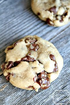 Double the chocolate Caramel Chocolate Chip Cookies on MyRecipeMagic.com