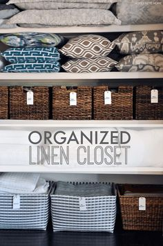 Organizing your closet can seem like a daunting task depending on the state that it& in. But, by utilizing a few easy tips, you can have your closet in tip top shape in no time. Here are the 11 Best Closet Organization Hacks to help you tackle the task. Best Closet Organization, Closet Hacks, Organization Hacks, Closet Ideas, Closet Storage, Classroom Organization, Container Store, Closet Labels, Folding Fitted Sheets
