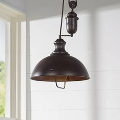 Inspired by antique lighting, this series recalls turn-of the century design where simple aesthetics and mechanical function combined to create charming, yet versatile fixtures. These classic pull-downs have a Pool Table Lighting, Kitchen Lighting, Lighting Ideas, Track Lighting, Pulley Light, Traditional Pendant Lighting, Laurel, Direct Lighting, Lantern Pendant