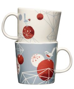 Iittala ((Himmeli is a combination of traditional Finnish Christmas symbols and modern form languages) - Pietari Posti Illustration Art Design Christmas Coffee, Christmas Mood, Christmas Illustration, Illustration Art, Illustrations, Cute Cups, Sweet Home Alabama, Vintage Pottery, Merry And Bright