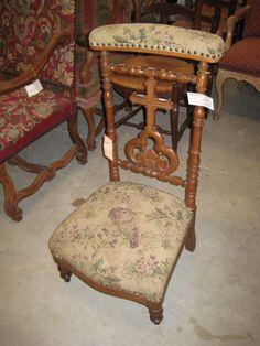 French Antique Prayer Chair Prayer Kneeler Antique