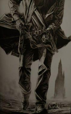 Roland by Lee Bermejo Dark Tower Art, The Dark Tower Series, Western Comics, Western Art, Fantasy Images, Dark Fantasy Art, Grafic Novel, Stephen King Books, First Animation