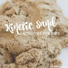Kinetic sand activities for toddlers, preschool aged kids, and up! Kids of all ages will love these kinetic sand ideas for sensory play. Sensory Bags, Sensory Diet, Sensory Play, Sensory Table, Sensory Bottles, Sensory Activities For Autism, Infant Activities, Activities For Kids, Motor Activities