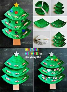 In this DIY tutorial, we will show you how to make Christmas decorations for your home. The video consists of 23 Christmas craft ideas. Easy Christmas Decorations, Christmas Crafts For Kids To Make, Preschool Christmas, Christmas Activities, Simple Christmas, Preschool Crafts, Kids Christmas, Holiday Crafts, Holiday Logo