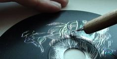 DIY Scratch CD Art, Boards and papers, as well as mirrors. Very interesting to… Middle School Art, Art School, Recycled Cds, Cd Crafts, Trash Art, Cd Art, Scratch Art, Art Lessons Elementary, Elements Of Art
