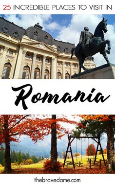 25 Incredible Places to Visit in Romania 25 Incredible Places to Visit in RomaniaRomania is probably one of the most underrated countries in Europe. Sure, it gets more visitors than Cities In Europe, Central Europe, Travelling Europe, Cool Places To Visit, Places To Travel, Peles Castle, Visit Romania, Romania Travel, Bucharest Romania
