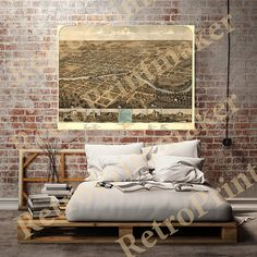 Map of South Bend St. Joseph Co. Indiana IN. by RetroPrintmaker