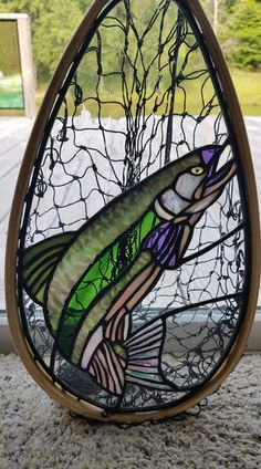 Excellent Screen Stained Glass fish Popular With the autumn of 1998 I made the choice that I personally needed a different hobby regarding my inventive si. Stained Glass Ornaments, Stained Glass Birds, Stained Glass Christmas, Faux Stained Glass, Stained Glass Lamps, Stained Glass Panels, Stained Glass Projects, Leaded Glass, Mosaic Glass