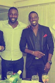 Idris Elba & Lance Gross<3
