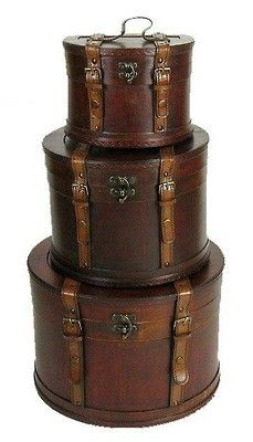 This would be a cute spin on a wedding cake for a vintage themed wedding Hat Boxes, Trunk, Storage Boxes, Wedding Cakes, Steampunk Cakes