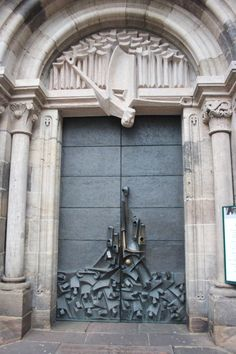 Door to the Lutheran church in Nuremberg, Germany.