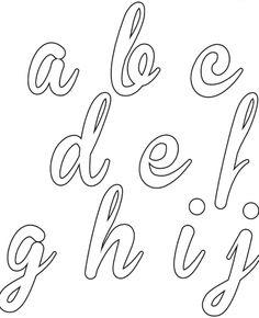 Imprima aqui todo o alfabeto cursivo. Veja como fazer os seus moldes de alfabeto cursivo, imprimir e melhorar as aulas de caligrafia com seus alunos. How To Write Calligraphy, Calligraphy Fonts, Modern Calligraphy, Heaven Tattoos, Alphabet Templates, Handwritten Quotes, Hand Lettering Alphabet, Agenda Planner, Word Design