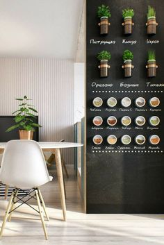 Kitchen décor ideas | Love this clever feature wall with herb and spice display ♥ Sourced via Oh Mai Darling #wishtankworthy