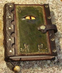 Hand Tooled Leather Journal With A Reptilian Attitude $45 - $75