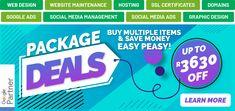 Website Maintenance, Social Media Ad, Package Deal, Google Ads, Web Design Company, Saving Money, Investing, Management, Printing
