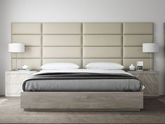 If you are looking for that extra finish for your bedroom why not use decorative interior wall panels to your headboard, like this one from @vantpanels! Color: Vintage Leather Dusty Taupe