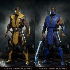 Mortal Kombat 11 - Klassic Fire and Ice Ninja load outs from 🔥❄️! Who do you want to see get revealed alongside Kotal Kahn… Mortal Kombat Comics, Mortal Kombat 2, Scorpion Mortal Kombat, Mortal Kombat Tattoo, Liu Kang And Kitana, Game Character, Character Design, Video Game Art, Video Games