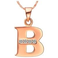 """I think you'll like 18k Rose Gold Plated Alphabet """"B"""" Necklace. Add it to your wishlist!  http://www.wish.com/c/52f10b0273604670fafbe580"""