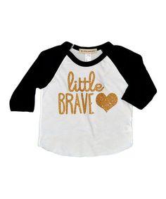 69c4e2bd0aa Wonder Me Black  Little Brave  Heart Raglan Tee - Infant