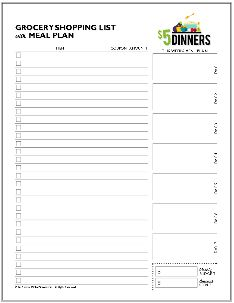 Free Printable Planners for Meal Planning, Grocery Shopping, Pantry Staples Meals and more