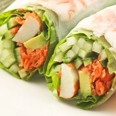 Crab and Avocado Wrap. It's the perfect combo. for a midday meal, to fuel an afternoon workout. The healthy fats from the avocado, the lean protein from the crab, and the complex. carbs from the whole-wheat wrap, mix together to make a satisfying and sustaining pre-workout meal. *Sub Greek yogurt for the sour cream and cream cheese, or use extra avocado as a replacement for the cream cheese or sour cream. Feel free to skip the wasabi powder if you don't like your food too spicy!