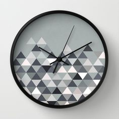 Nordic Combination 25 Wall Clock by Mareike Böhmer Graphics - $30.00