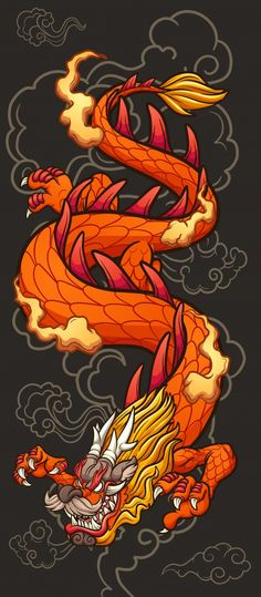 Chinese Dragon Drawing, Red Chinese Dragon, Chinese Drawings, Japanese Dragon Tattoos, Dragon Dance, Dragon Boat, Dragon Eye, Dragon Tattoo Shoulder, Chinese Background