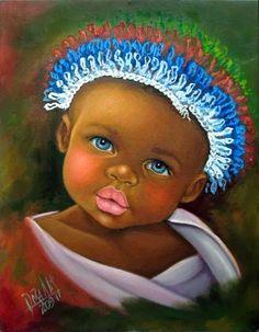 Resultado de imagen para niños negros del pintor colombiano
