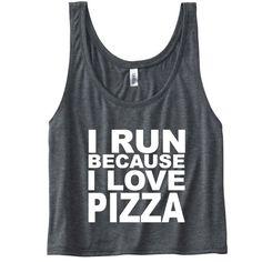 I Run Because I Love Pizza Tank. Funny Gym Tank Top. Running Tank. Running Shirt. Gym Vest. Workout Clothes. Marathon Shirt. Pizza Shirt. by SoPinkUK on Etsy