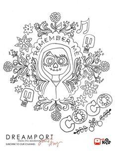 free download printable kids coloring page disney pixar coco miguel - Coloring Page Coco