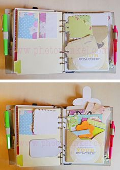 Tags as extra writing space for your planner