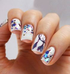 Most Amazing Manicure Ideas for Catchier Nails Funky Nails, Love Nails, Pretty Nails, My Nails, Glitter Nails, Nail Gelish, Nail Manicure, Manicure Ideas, Nail Candy