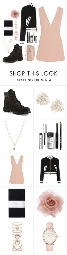 """""""zero"""" by md74 ❤ liked on Polyvore featuring Timberland, Cara, LC Lauren Conrad, Bobbi Brown Cosmetics, STELLA McCARTNEY, Moschino, Toast, Accessorize, CLUSE and Deux Lux"""