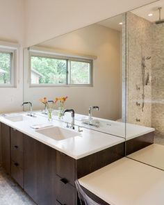 Modern w/ a Side of Ranch - modern - bathroom - kansas city - by Hufft Projects