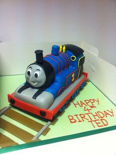 How to make a 3d thomas the train cake had to post it ill thomas the tank engine cake by bathcakecompany pronofoot35fo Images