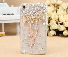 Fashion case iPhone 5 case  loves pink bows case  iPhone 4s case iPhone 4s case iPhone cover by dnnayding