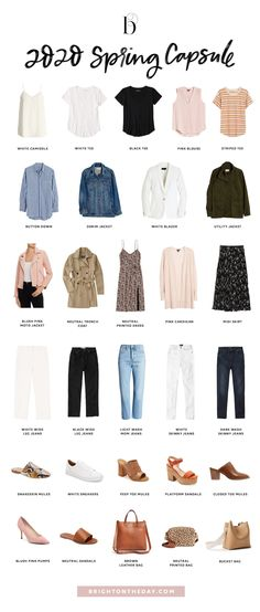 I'm so excited to be sharing this year's BTD Spring Capsule Wardrobe! Last year's Spring Capsule seemed to be such a big Minimalist Outfit, Minimalist Wardrobe, Minimalist Fashion, Capsule Outfits, Fashion Capsule, Capsule Wardrobe Women, New Outfits, French Capsule Wardrobe, Day Date Outfits