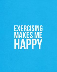 Exercising Makes Me Happy. An original typography design print by Victoria Breton. #quote #happy #typography #modernwallart #modernart #art #exercise #fitness #health #healthy #nutrition #workout #workoutquote #fitnessquote #gym #inspiring #inspiration #motivation #fitspo #thinspo #fitspiration #thinspiration