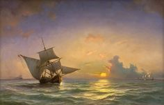 A Seascape by Anton Melbye, 1854. Statens Museum for Kunst, CC0