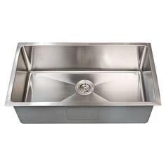 "Optimum Stainless Steel Single Well Rectangular Undermount Sink - 15"", 20"", 23"", 32"""
