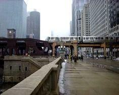 River bridge and The El