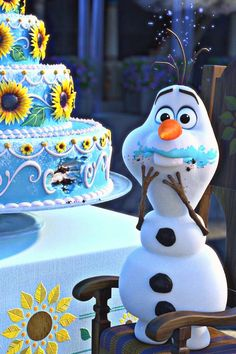 """Get a Magical Sneak Peek of Disney's New Short, Frozen Fever! We were all diagnosed with an affliction known as """"Frozen Fever"""" around this time last year, but now that means something totally different. Smash hit Frozen has inspired a short film, titled F Disney Olaf, Frozen Disney, Frozen Movie, Disney Art, Olaf Frozen, Frozen 2013, 2 Movie, Walt Disney, Disney Food"""