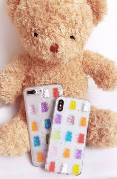 Channel happy vibes with this cute gummy bear iPhone/Samsung case. With random placement of the gummy bears, no two cases are the same. Ideal for iPhone X/XR/XS/Max, Max & Samsung series. Gummy Bear Candy, Gummy Bears, Cute Cases, Cute Phone Cases, Korean Colors, Iphone7 Case, Fun Conversation Starters, Glitter Phone Cases, Silicone Phone Case