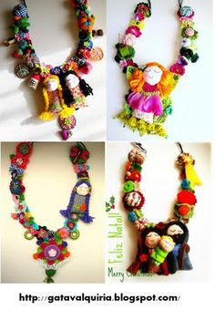 lovely #colorful #necklaces of #felt